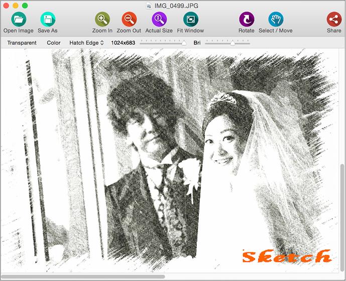 0円ソフト 写真を鉛筆スケッチ画に加工しよう Macfan